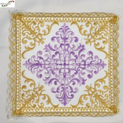 Chalice pall, machine made embroidery